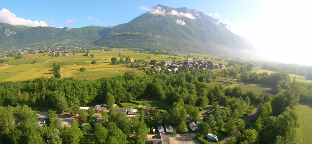 Camping in Savoie - Lake Carouge - Photo taken from a drone