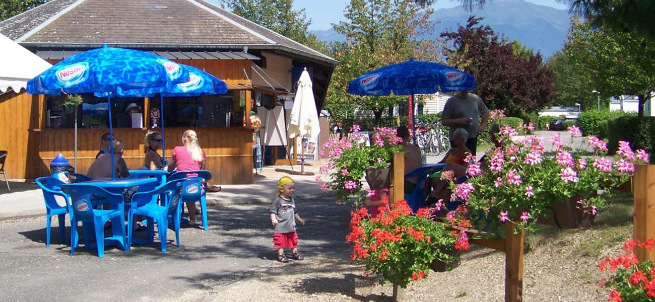 camping in savoie - Snack terrace