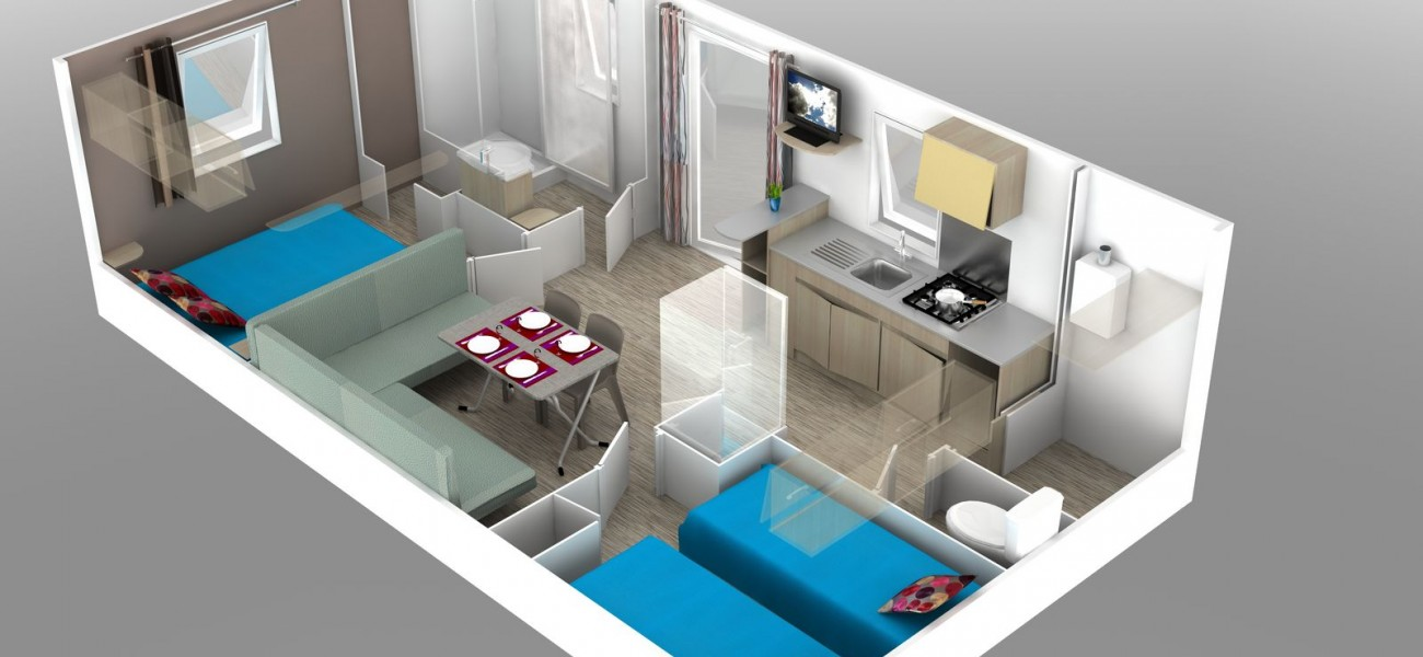 Map mobil home 2 chambres